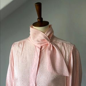 Tops - Vintage Pale Pink Kerchief Blouse